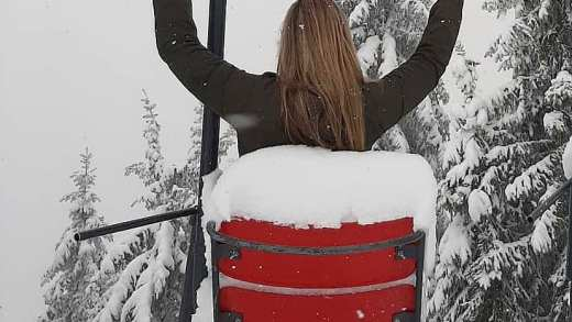 Sneeuwfoto's van vandaag in Oostenrijk