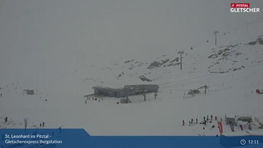 Sneeuwval op de gletsjers VIDEO