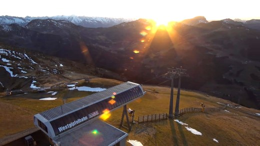 saalbach zonsondergan 13 november 2020