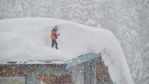 Grote verschillen door mega sneeuw en föhn