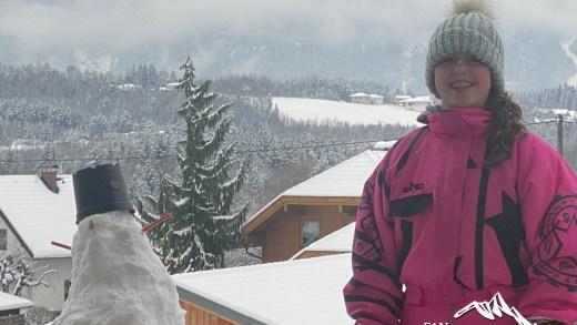 Blog Dieya in de vers gevallen sneeuw