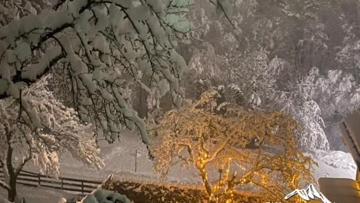 Lieserbrücke Karinthië in de sneeuw