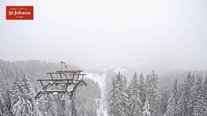St Johann in Tirol sneeuw op 28 januari 2021