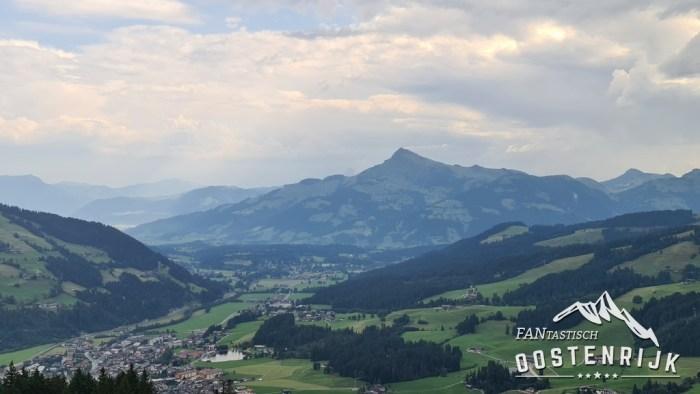 Kirzhberg uitzicht vanaf de Gaisberg richting Kitzbüheler Horn