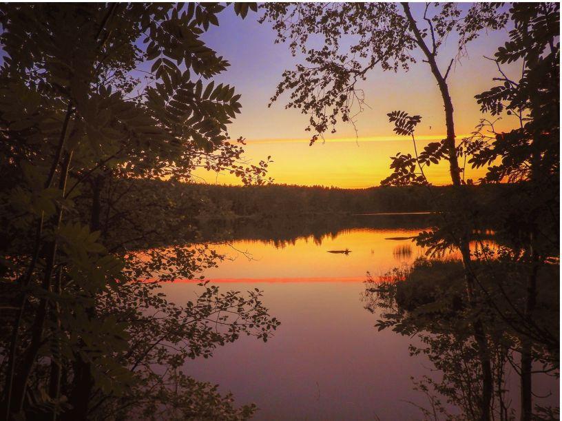 Solnedgang over Øyungen - Oslomarka - Nordmarka - Fantastiske marka