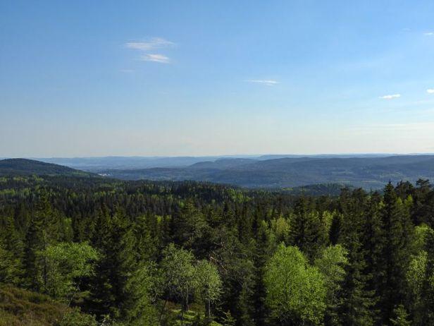 Utsikt fra Kobberhaugene mot Bærumsmarka - Oslomarka - Nordmarka - Fantastiske marka