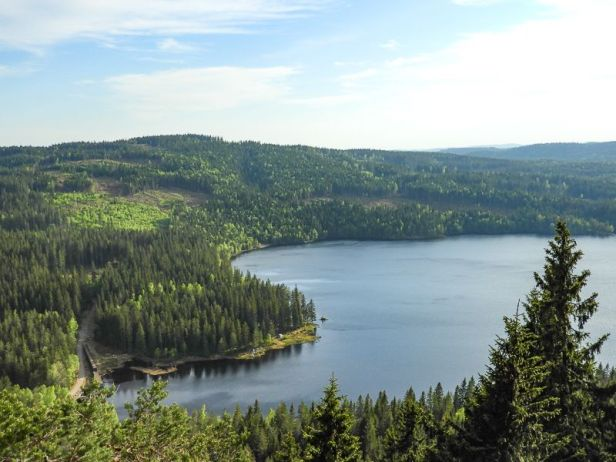 Utsikt mot Øyungen fra Øyungskollen - Oslomarka - Nordmarka - Fantastiske marka
