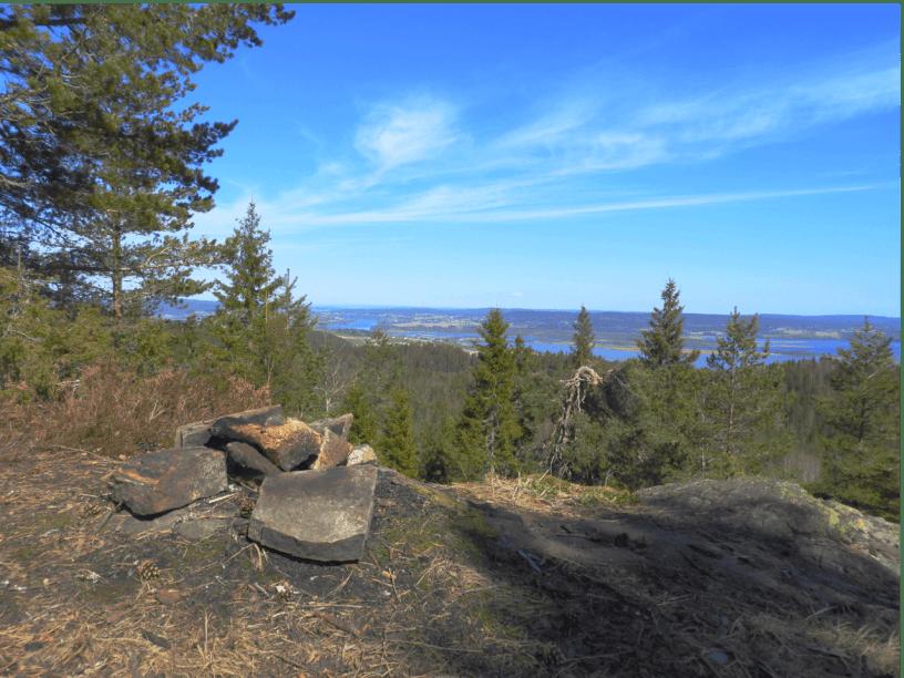 Utsikt over Øyeren og Glomma fra Tjuvstuåsen - Oslomarka - Østmarka - Fantastiske marka