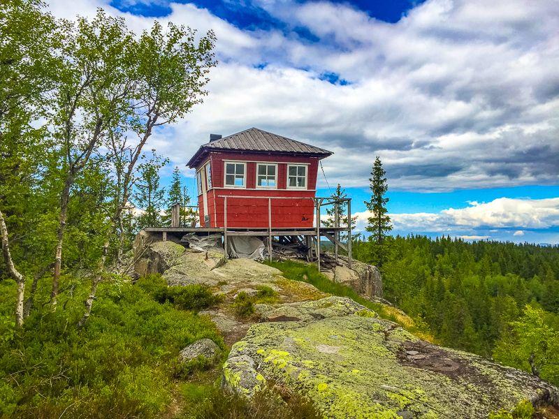 Brannvakthytta på Kjerkeberget - Oslomarka - Nordmarka - Fantastiske marka