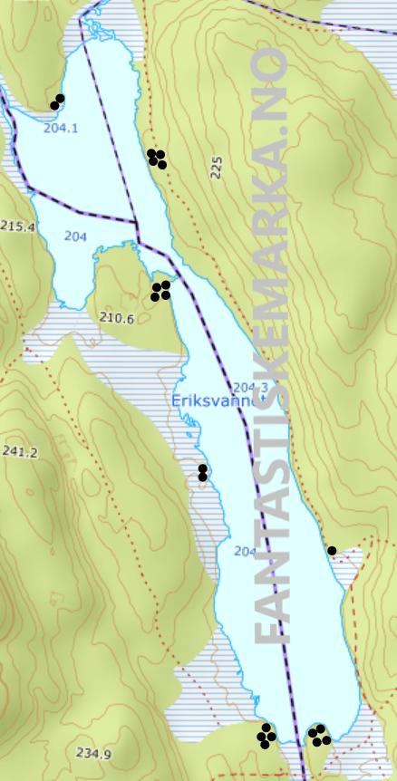 Leirplasser ved Eriksvannet i Østmarka - Oslomarka - Fantastiske marka