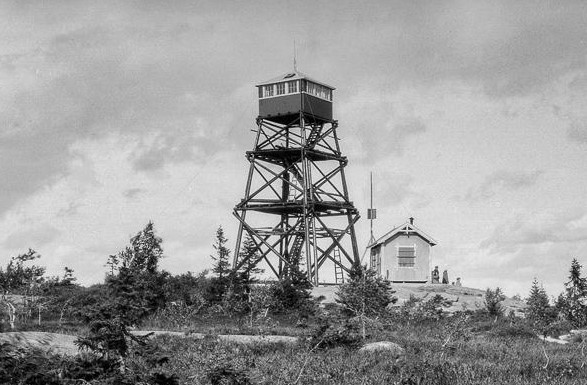 Oslo Museum - Brannvakttårn på Varingskollen - Anders Beer Wilse - 1928 - cropped