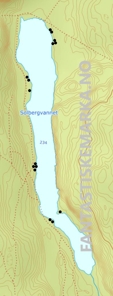 Teltplasser ved Solbergvannet i Østmarka - Leirplasser - Hengekøyeplasser - Oslomarka - Fantastiske marka