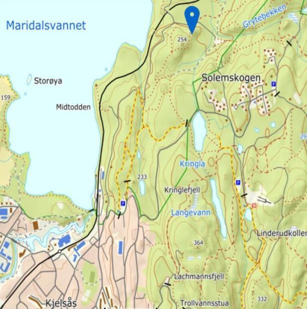 Kartplassering Sander bygdeborg i Maridalen - Oslomarka - Bygdeborger - Oldtidsminner - Fantastiske marka (wecompress.com)