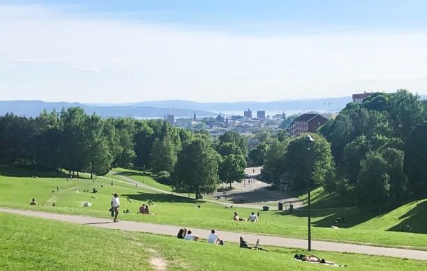 Utsikt mot Oslo sentrum fra Torshovdalen