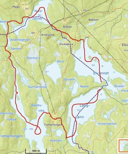 Padlerute-Firkloveret-i-Nordmarka-Kano-Packraft-Oslomarka-Nordmarka-Fantastiske-marka