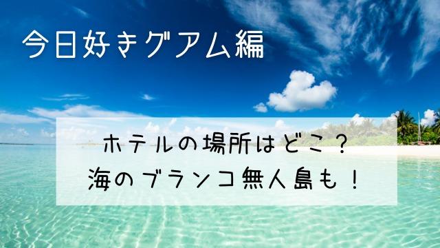 今日好きグアムのホテルの場所はどこ?海のブランコ無人島も!