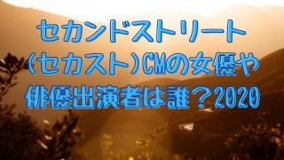セカンドストリート(セカスト)CMの女優や俳優出演者は誰?2020