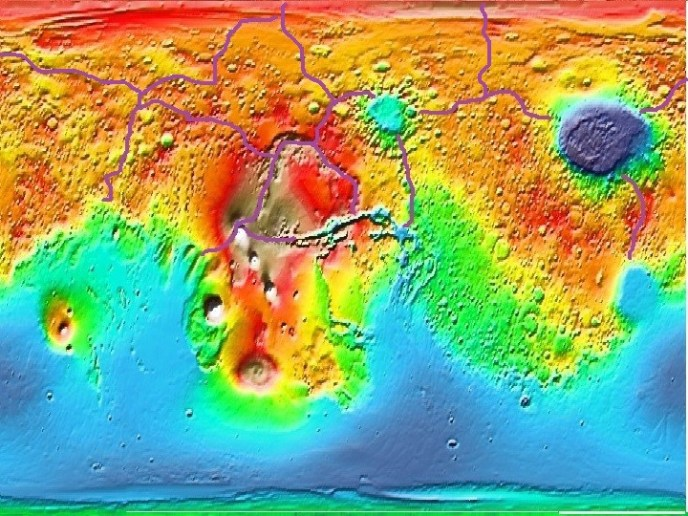 A relief map of Mars inspired the world of Oblate