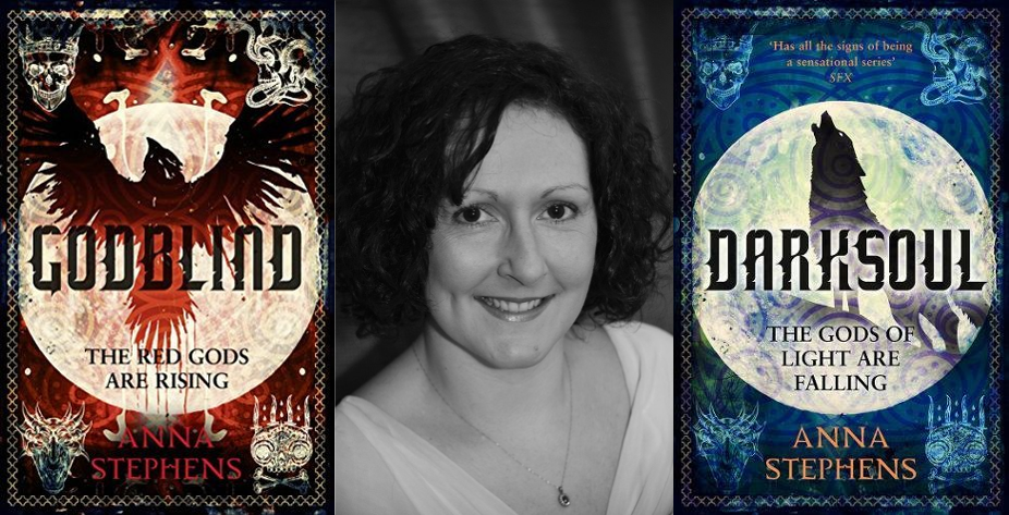 Anna Stephens, author of Godblind and Darksoul (2018)