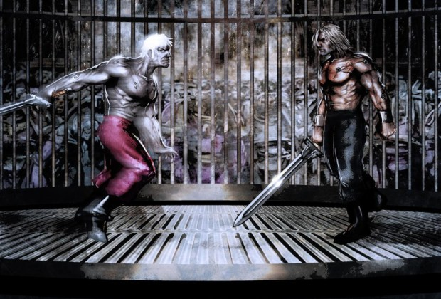 The Duel of Loken and Lucius by Shane Cook (Slaine_69)