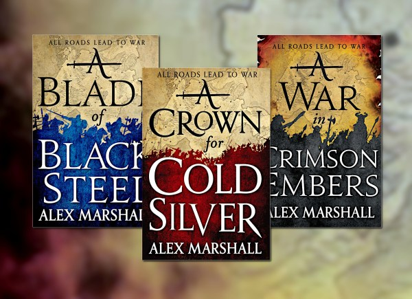 The Crimson Empire trilogy by Alex Marshall