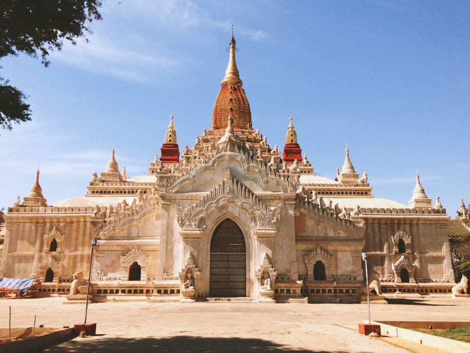 Ananda Temple built in 1105, it's being restored with the help of Indian archeologists – probably the most famous temple in Bagan.
