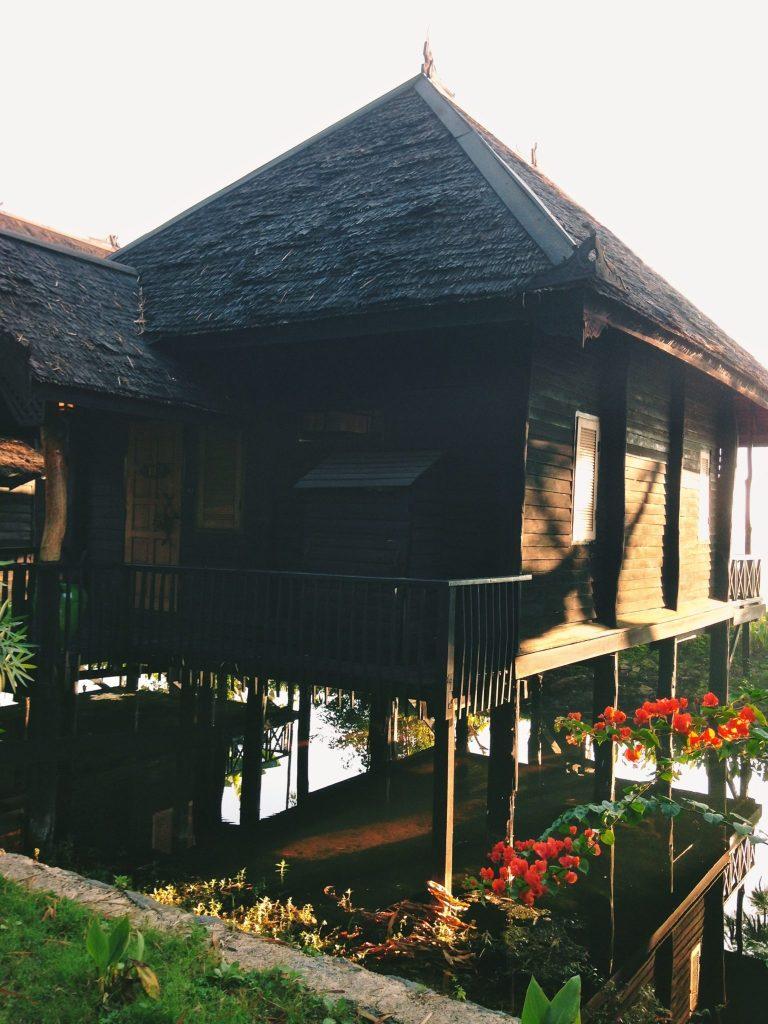 My bamboo hut at sunrise