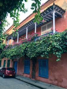 Colorful home with balcony in Cartagena, Colombia, Fantasy Aisle Travel