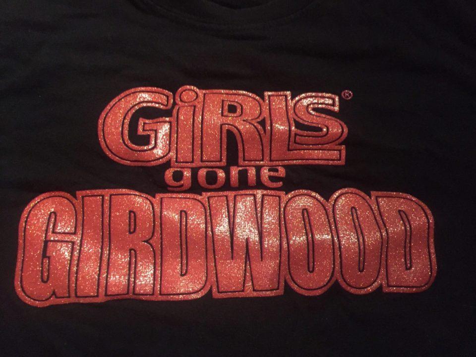 Fantasy Aisle, redefining sexy, The Girls Gone Girwood logo on a t shirt