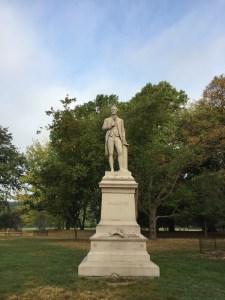 Fantasy Aisle, Statue of Alexander Hamilton, a very popular man in NYC