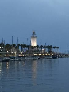 Fantasy Aisle, Lighthouse on the Mediterranean at the Port of Málaga