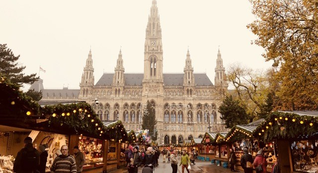 Fantasy Aisle, Rathausplatz, City Hall in Vienna, Austria