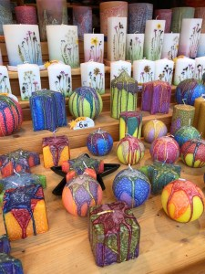 Fantasy Aisle, Example of some of the candles sold at the markets