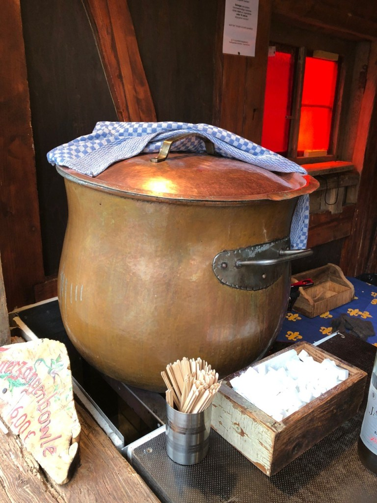 Fantasy Aisle, A cauldron of glühwein in the Renaissance Village Christmas Market in Munich