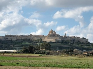 Fantasy Aisle, Mdina, Medieval walled capital of Malta view from Ta' Qali
