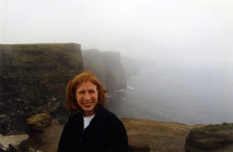 Fantasy Aisle, Me at the Cliffs of Moher in 1998