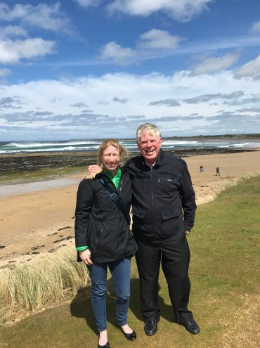 Fantasy Aisle, My dad and me on the coast of Ireland