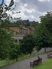 Filled in land directly under the Castle known as the Mound and Princes Street Gardens