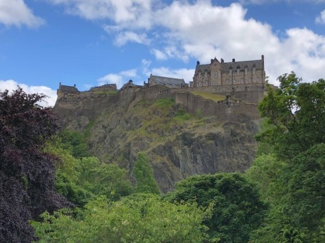 Fantasy Aisle, Edinburgh Castle, on Castle Rock, Old Town sits on an extinct volcano