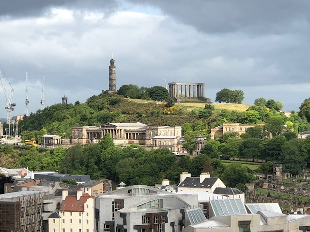 Fantasy Aisle, Calton Hill, place of many Scottish monuments and great views of the city.