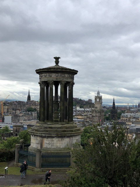 Fantasy Aisle, Calton Hill, overlooking the Old Town