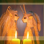 fantasycreations fantasie sprookjes poppen wezens figuren droom magie kunst ooak art dolls creatures fairy tale magical imagination dream candle light elf