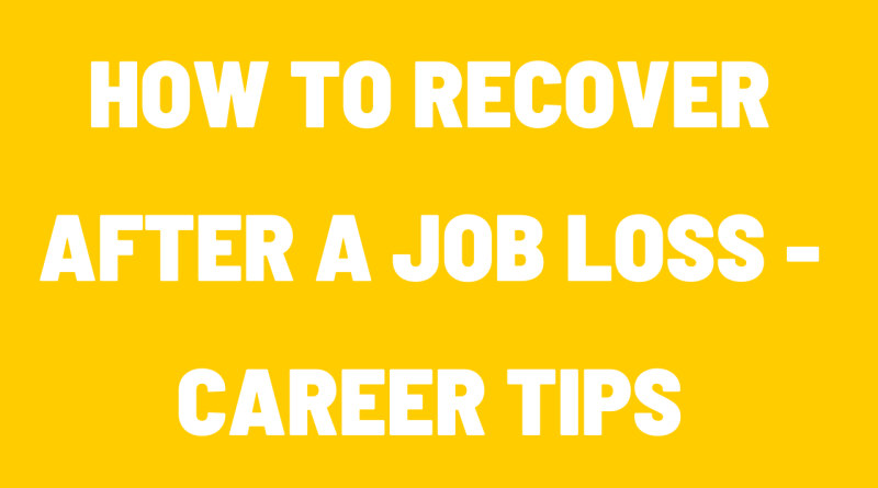 How to Recover after a Job Loss
