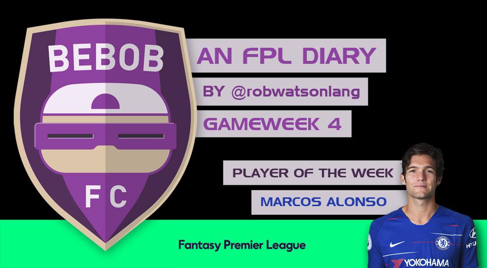 BEBOB FC – An FPL Diary by Rob Watson-Lang – GAMEWEEK 4