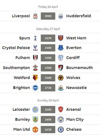 FPL Gameweek 36 captaincy - fixtures