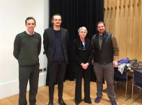 Susan Cooper with the organisers of the lecture