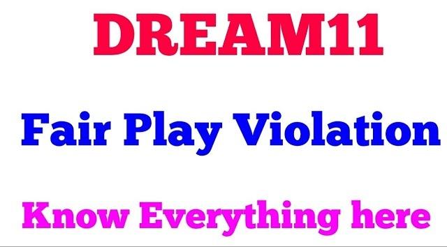 Dream11 Fair Play Violation