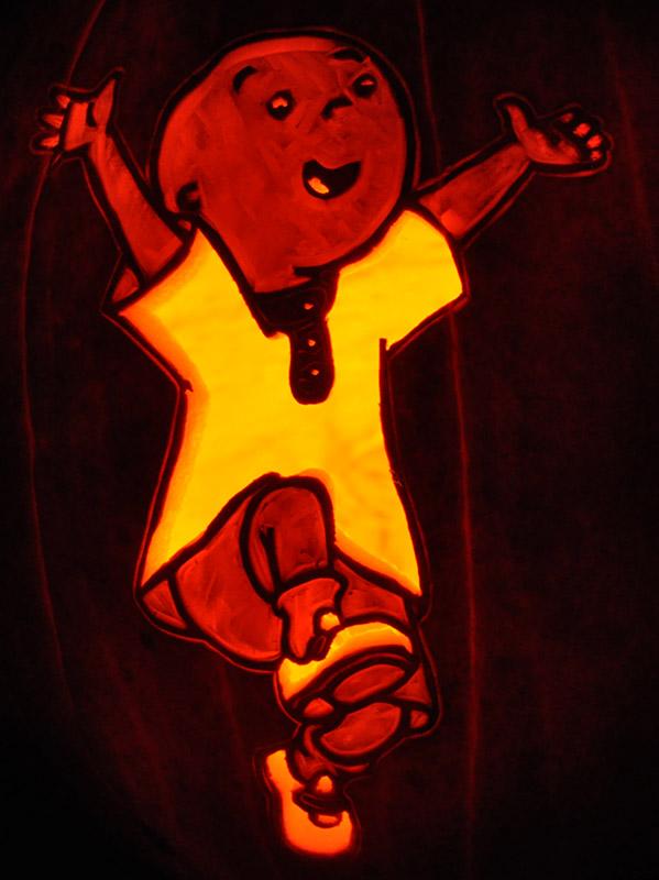 Carving Pumpkin Head Stencil Pirate