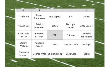 Super Bowl LIV Bingo