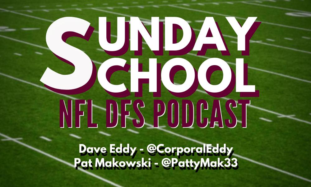 2020 NFL DFS Week 12 Sunday School Podcast